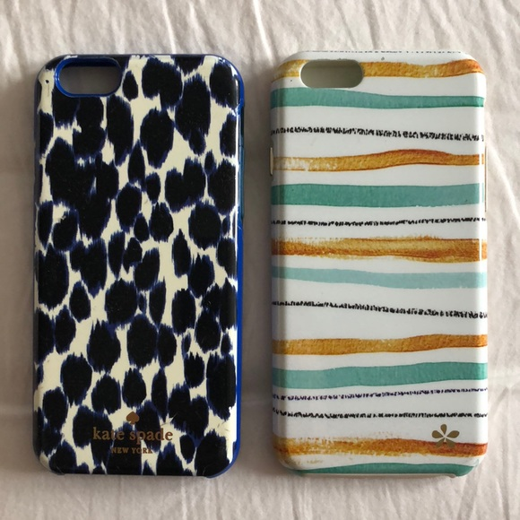 buy popular f79b8 643e1 KATE SPADE blue leopard iPhone 6/6s case + extra